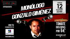 Este viernes no hagas planes, ven a Max Center al monólogo de Gonzalo Giménez con entrada gratuita para todos los asistentes ¡os esperamos en Pause & Play!