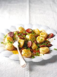 SCALLOPS AND CHORIZO from nigella.com - easy and delicious!
