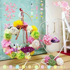 Japan Crafts, Fun Diy Crafts, Bouquet, Kawaii, Wreaths, Spring, Home Decor, Dekoration, Decoration Home