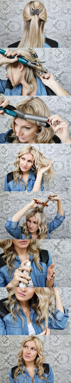 How to perfectly curl your hair! Don't forget a heat protector!