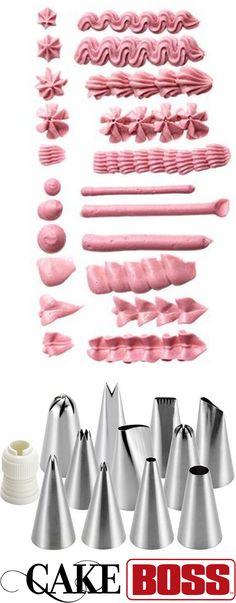 Pipe like a pro, baby! Click on the image to start decorating and icing cakes, cupcakes, cookies and more with the Cake Boss 12-Piece Basic Decorating Tip Set. #DevotedToDessert