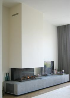Living Room With Fireplace, Sweet Home, Future, Fire Places, Future Tense, House Beautiful