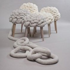 Cloud Stool by Joon & Jung: Looks soft