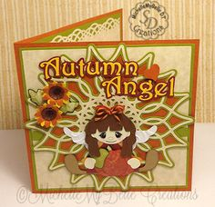 "MichelleMyBelle Creations: Autumn Angel Card. Created using ""Sprinkled With Love"" pattern file."
