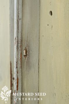 Miss Mustard Seed - This wardrobe is painted with three different colors of milk paint, plus a fourth on the panels. Three blog entries explain the process of painting, distressing, and waxing....