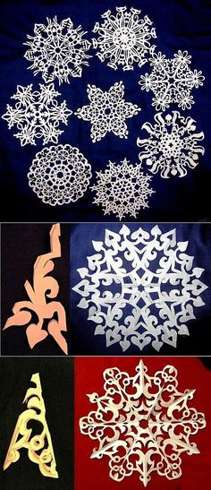 Подборка красивых снежинок из бумаги..