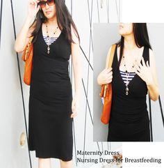 DIANA Dress Maternity Clothing Maternity Dress Maternity Dresses Nursing Tops for Breastfeeding Maternity Top BLACK Maternity Dress Find us at Modern Mummy Maternity www.modernmummy.com