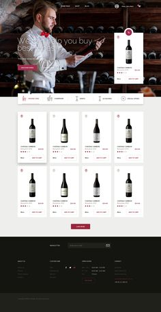 png by Michal Parulski Layout Site, Web Layout, Website Layout, Layout Design, Wine Websites, Template Web, Website Template, Food Web Design, Iphone App Design