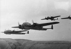 Luftwaffe Dornier Do17s en route to bomb London, c1940