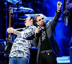 Ringo Starr and All-Starr Steve Lukather perform at Peace Center Concert Hall in Greenville, S.C., Feb. 17.