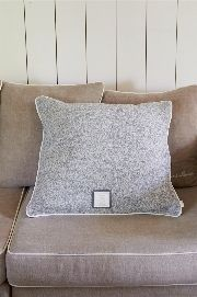 Icicle Games Cushion Cover Grey - Rivièra Maison - Kussenhoes
