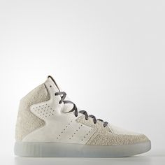 The Tubular series has been known for its innovation and high-performance technologies since it first stepped out in the '90s.  With this version of the Tubular Invader, the street-ready shoes borrow a basketball style and fuse it with the progressive design of the Tubular. Updating the modern look, the suede upper has a dynamic collar line without the original strap. A textured heel and mélange-effect laces round out the luxe style of these men's shoes.