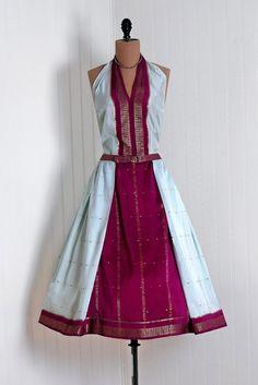 sari fabric dress