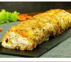Kartoffelroulade med kylling og flødeost