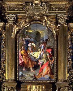 """Senigallia, Chiesa della Croce risalente al 1608.Opera : """"trasporto di Cristo al Sepolcro"""" di Federico Barocci"""
