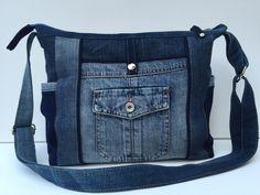 """Umhängetaschen - Jeanstasche """"Lissi III"""" - ein Designerstück von Bea-Trix-Shop…"""
