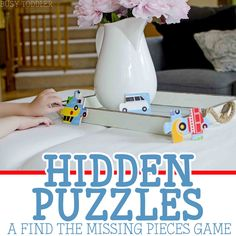 Puzzles Hide and Seek: Play a fun hidden puzzles game with toddlers and preschoolers; add a fun, easy element to traditional puzzle play; easy indoor activity