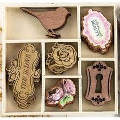 Garden Fable Laser-Cut Wood Icons In A Box..562