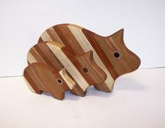 PIG Cutting Board Set of 3 Handcrafted from Mixed by tomroche