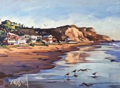 Por amor al arte: Carla Bosch Landscape Paintings, Landscapes, Acrylic Painting Techniques, Classical Art, Coastal Decor, Diy And Crafts, Creatures, Sketches, Maxfield Parrish