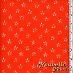 Rayon Spandex - Tangerine with Stars Fabric