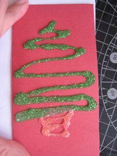 Glitter cards (tips)