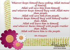 Seek Allah.