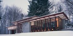The Frank Lloyd Wright Penfield house, built in 1955, is one of the so-called Usonian homes.