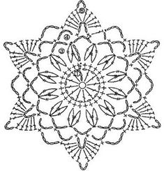 trendy Ideas for crochet granny square star beautiful Crochet Snowflake Pattern, Crochet Stars, Crochet Motifs, Crochet Snowflakes, Crochet Diagram, Doily Patterns, Thread Crochet, Crochet Granny, Crochet Flowers