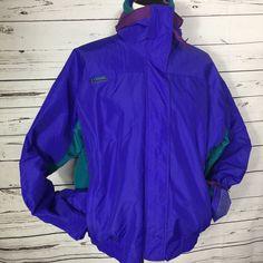 Vtg 80s Womens Columbia Jacket Bugaboo Radial Sleeve 3in1 Coat Fleece Nylon Sz L #Columbia #3In1 #SkiSnow