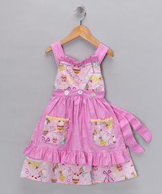 Take a look at this Pink Cupcake Apron Dress - Infant, Toddler & Girls by Lil'Daisies on #zulily today!
