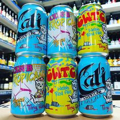 Cali - 5.6% APA Cwtch - 4.6% Red Ale & Clwb Tropicana - 5.5% Tropical IPA in cans from @tinyrebelbrewco available now