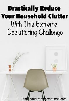 The Room A Month Extreme Decluttering Challenge