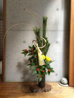 2014年正月花 #ikebana #sogetsu #NewYear