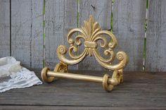 Gold bath tissue holder