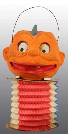Skookums ~ mache/ paper accordion lantern.