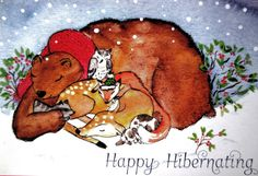 Christmas Card-These dear creatures just want to by EmmysAnimals
