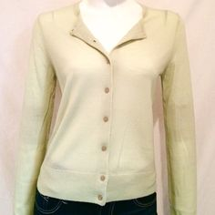 "Ann Taylor Lime Green Sweater. Final Price Reduction Ann Taylor Lime Green Button Down Sweater. 100% Merino, Extra Fine Wool Dry Clean. Size Medium. Armpit to armpit 17"", Length of Sweater 23"", Sleeve Length 26"". Ann Taylor Sweaters"
