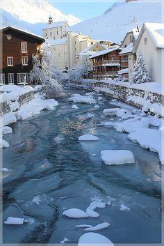 Winter morning in Andermatt, Switzerland.