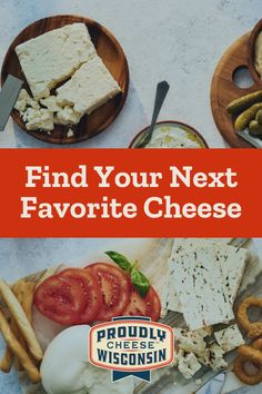 There's a cheese for everyone when it comes to Wisconsin cheese.💛 Find your next favorite cheese today. Potluck Recipes, Appetizer Recipes, Salad Recipes, Appetizers, Cooking Recipes, Healthy Recipes, Pie Recipes, Recipes With Whipping Cream, Cream Recipes