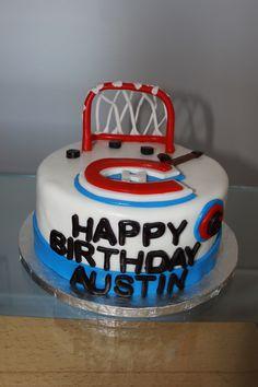 Habs hockey cake Hockey Cakes, Cake Face, How To Make Cake, Desserts, Food, Tailgate Desserts, Meal, Dessert, Eten