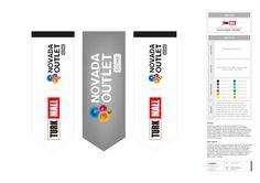 novada kurumsal kimlik tasarımı kapsamında promosyon ürünleri tasarımı & üretimi. kırlangıç bayrak tasarımı.