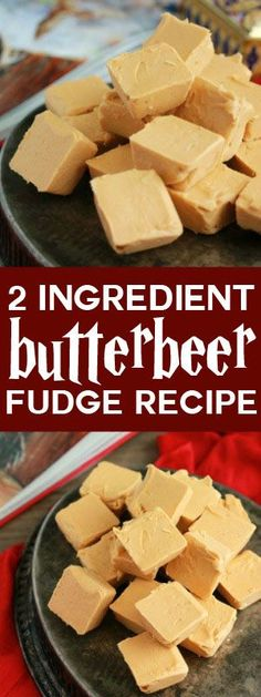 TWO ingredient Butterbeer Fudge. Harry Potter fans rejoice because this easy recipe is about to become a favorite!