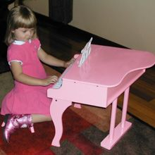 Erin's pink Fancy Baby Grand piano was a hit at her 5th birthday party