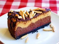 Almond Mocha Fudge Cake