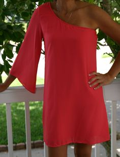 Get ready for those summer weddings with this coral dress! Shop DandP www.denim-pearlsboutique.com