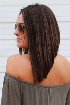 Images Long Angled Bob Hairstyles, Layered Haircuts, Medium Hair Styles, Curly Hair Styles, Hair Lengths, Hair Trends, Hair Inspiration, Hair Cuts, Hair Beauty