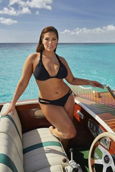 Ashley Graham modeling a look from her collection with Swimsuits For All.