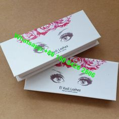 Low MOQ Fashion Beautiful Printing Private Label False Eyelash Packaging Box Wholesales