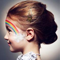 maquillage, enfant, arc en ciel